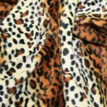 Ex Display Leopard Print Short Pile Fur Xtra Large Bean Bag
